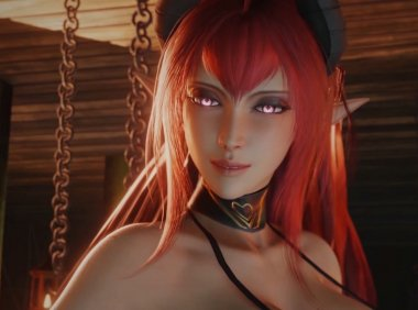 [3D同人] BaronStrap-Succubus and Elf BDSM
